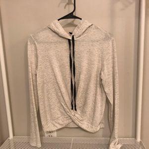 Anthropologie DREW Twist Front Hoodie Sweatshirt